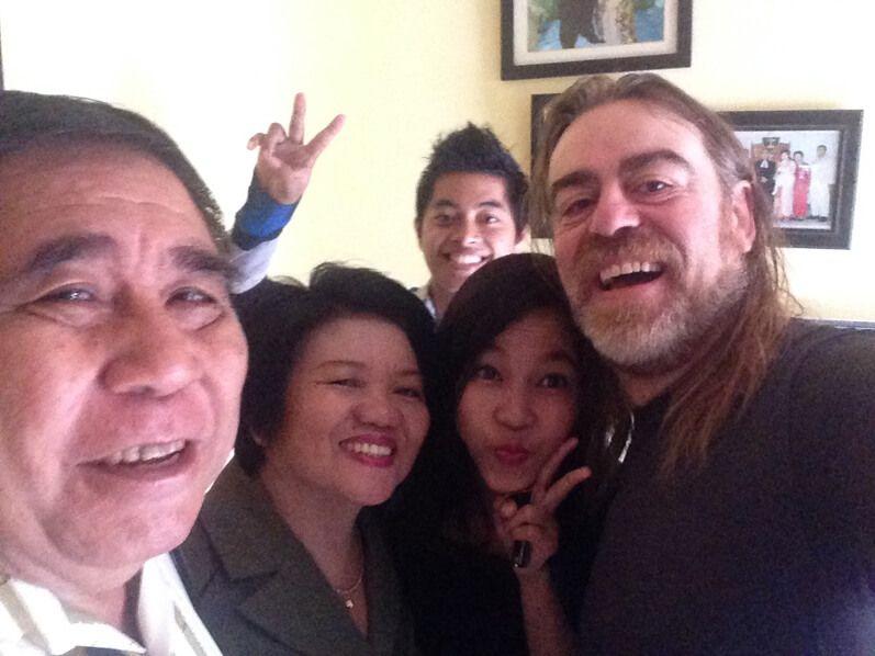 William, María, Imel y Batara conmigo en Nunukan