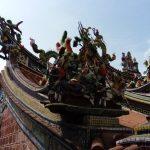 Detalle de un tejado de uno de los templos