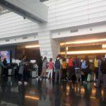Terminal de llegadas del aeropuerto de Taipei (Taiwán)