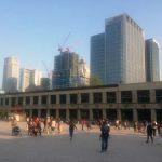 Plaza donde se ubica el recinto de exposiciones