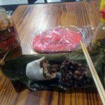 Mi comida en el hostel: arroz relleno de verduras y carne