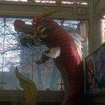 Dragón en la estación de metro de Longshan