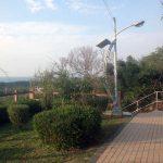 El parque que se ha creado sobre las viejas vías del ferrocarril