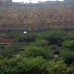 Mural conmemorativo a los mineros y la antigua actividad de Jiufen