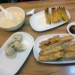 Platos de Din Sum, nuestro almuerzo