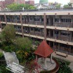 Vista de la escuela desde la terraza del salón de actos