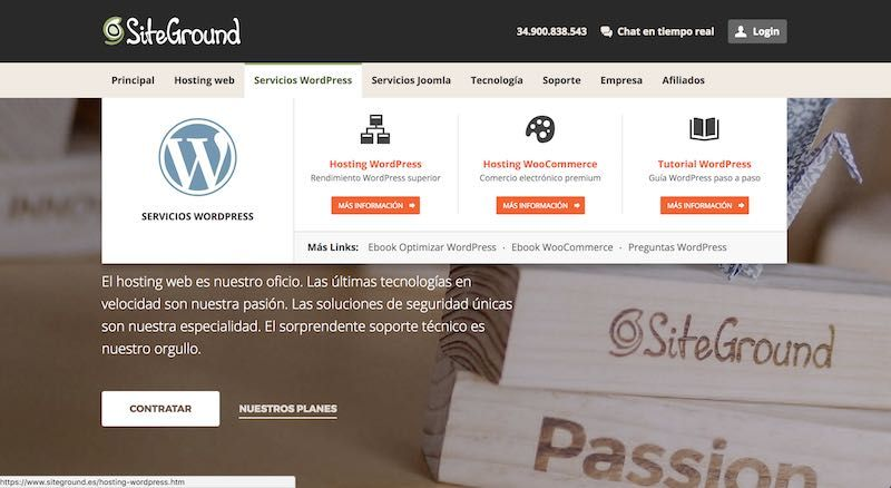 Crear web o blog con WordPress