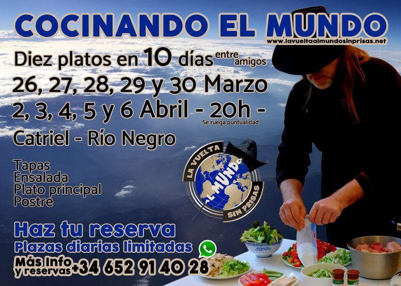 Flyer Jornadas Gastronómicas Cocinando el Mundo
