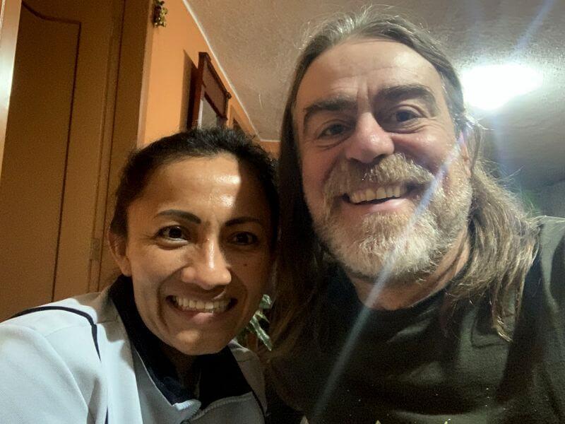 Agradecimientos a Maggy de Quito